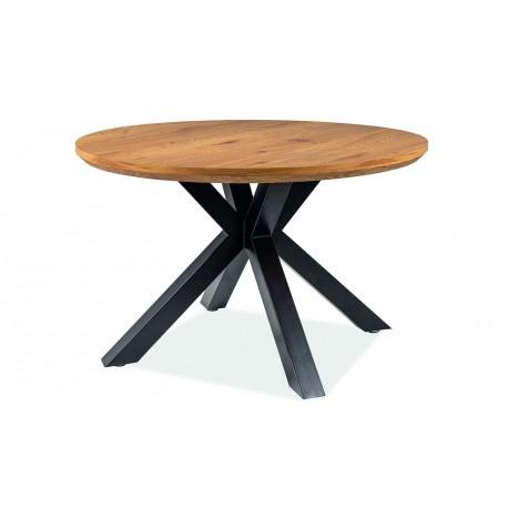 thumb Стол обеденный Ritmo 120х120 Дуб/Черный 2