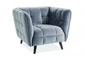 Кресло Castello Velvet 1 Серый
