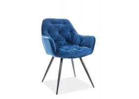 Кресло Cherry Velvet Синий/Черный
