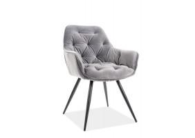 Кресло Cherry Velvet Серый/Черный