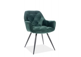 Кресло Cherry Velvet Зеленый/Черный