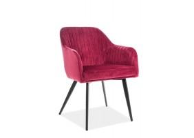 Кресло Elina Velvet Бордовый/Черный