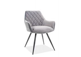 Кресло Linea Velvet Серый/Черный
