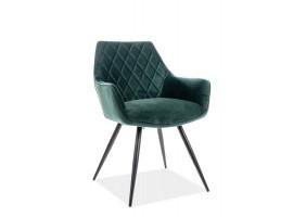 Кресло Linea Velvet Зеленый/Черный
