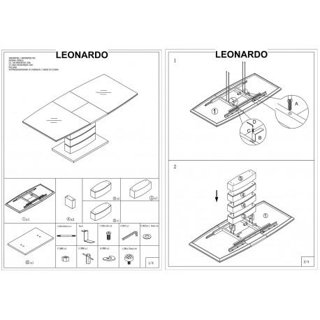thumb Стол обеденный Leonardo 140х80 Дуб 9