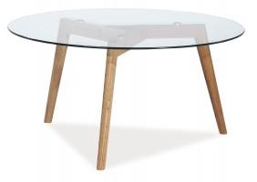 Журнальный стол Oslo L2 Прозрачный /Дуб