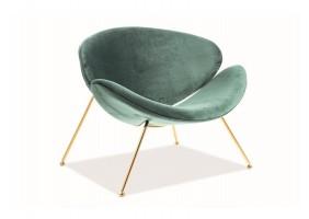 Кресло Major Velvet Зеленый/Золотой