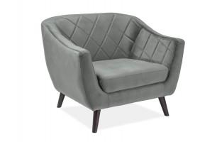 Кресло Molly Velvet 1 Серый