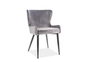 Кресло Passo II Velvet Серый/Черный