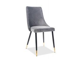 Кресло Piano Velvet Серый/Черный