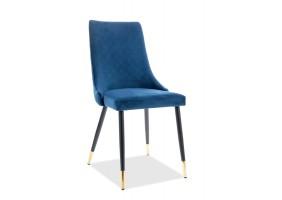 Кресло Piano Velvet Синий/Черный