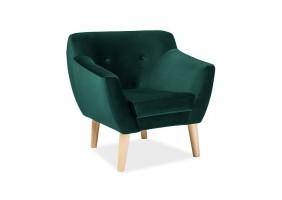 Кресло Bergen 1 Velvet Зеленый
