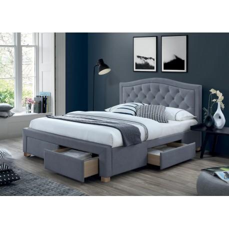 thumb Двуспальная кровать Electra Velvet 160X200 Серый 1