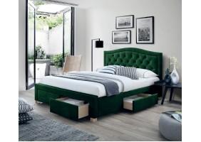 Двуспальная кровать Electra Velvet 160X200 Зеленый