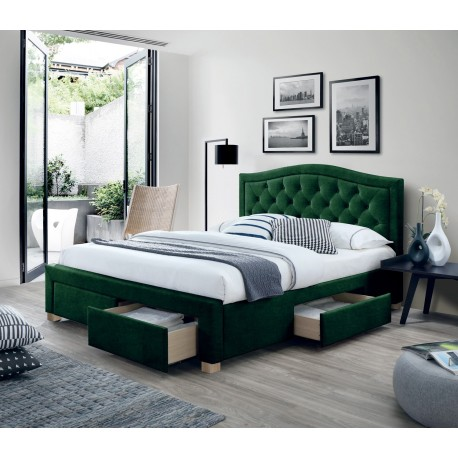 thumb Двуспальная кровать Electra Velvet 160X200 Зеленый 1