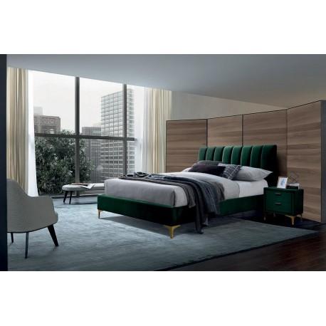 thumb Двуспальная кровать Mirage Velvet 160X200 Зеленый 1
