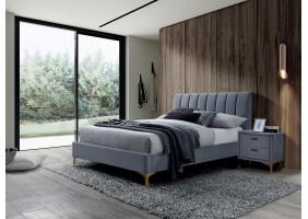Двуспальная кровать Mirage Velvet 160X200 Серый