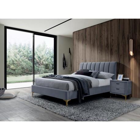 thumb Двуспальная кровать Mirage Velvet 160X200 Серый 1