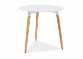 Стол обеденный Nolan III 80х80 Белый/Бук
