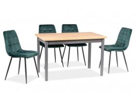 Стол обеденный Adam 60x100 Дуб Ланселот/Антрацит