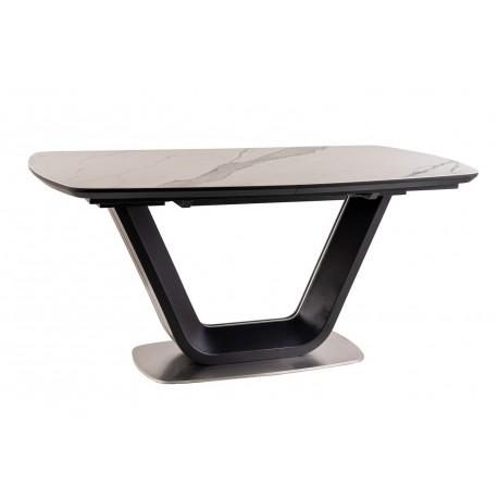 thumb Стол обеденный Armani Ceramic 160(220)х90  Эффект Мармура/Черный Мат 8