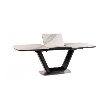 thumb Стол обеденный Armani Ceramic 160(220)х90  Эффект Мармура/Черный Мат 10