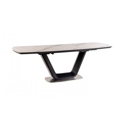 thumb Стол обеденный Armani Ceramic 160(220)х90  Эффект Мармура/Черный Мат 11