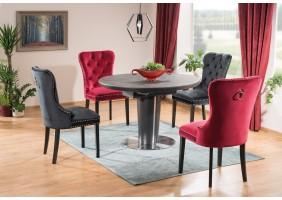 Стол обеденный Orbit 120 Ceramic Серый Эффект Мармура/Антрацит