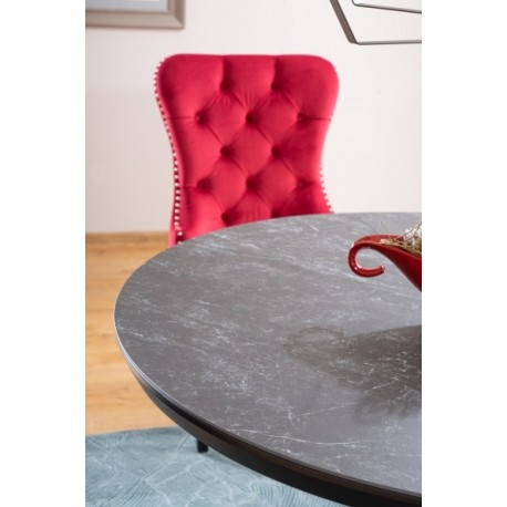thumb Стол обеденный Orbit 120 Ceramic Серый Эффект Мармура/Антрацит 2