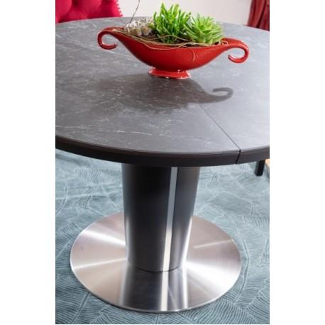 thumb Стол обеденный Orbit 120 Ceramic Серый Эффект Мармура/Антрацит 3