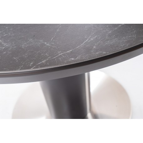thumb Стол обеденный Orbit 120 Ceramic Серый Эффект Мармура/Антрацит 9
