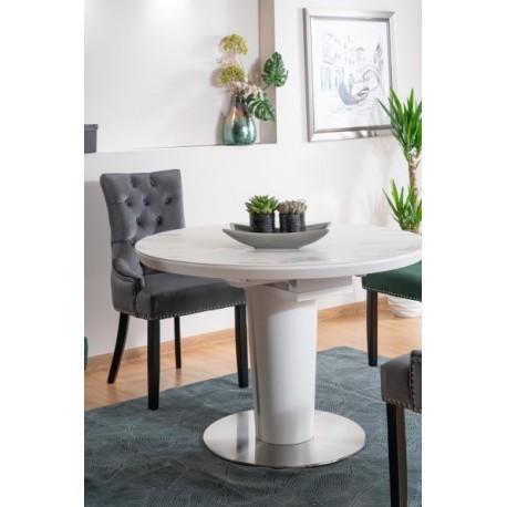 thumb Стол обеденный Orbit 120 Ceramic Белый Эффект Мармура/Белый Мат 2