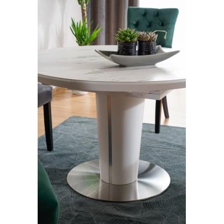 thumb Стол обеденный Orbit 120 Ceramic Белый Эффект Мармура/Белый Мат 3