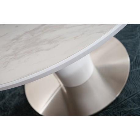 thumb Стол обеденный Orbit 120 Ceramic Белый Эффект Мармура/Белый Мат 4