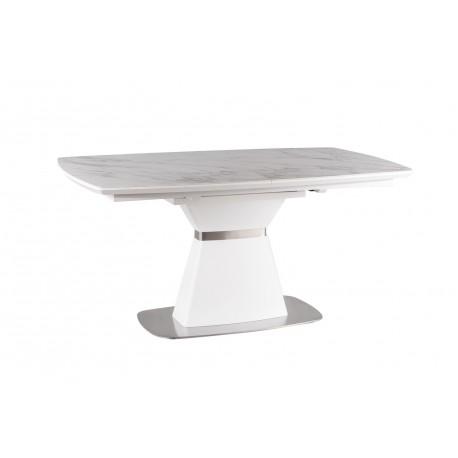thumb Стол обеденный Saturn II Ceramic 90х160 (210) Белый Эффект Мармура/Белый Мат 7