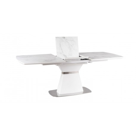 thumb Стол обеденный Saturn II Ceramic 90х160 (210) Белый Эффект Мармура/Белый Мат 8