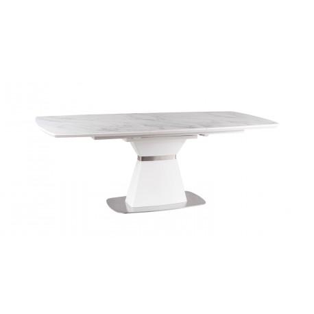 thumb Стол обеденный Saturn II Ceramic 90х160 (210) Белый Эффект Мармура/Белый Мат 9
