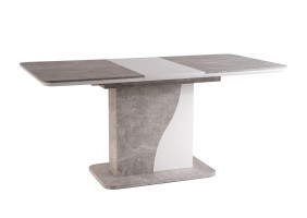 Стол обеденный Syriusz 80х120 Серый/Белый Мат