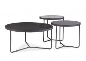 Журнальный столик Artemida Серый+Черный