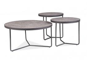 Журнальный столик Demeter Серый/Черный
