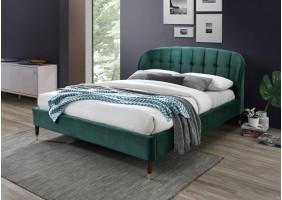 Двуспальная кровать Liguria Velvet 160X200 Зеленый