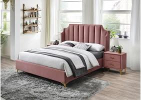Двуспальная кровать Monako Velvet 160X200 Античный Розовый