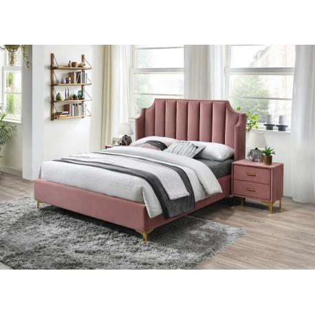 thumb Двуспальная кровать Monako Velvet 160X200 Античный Розовый 1