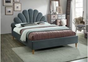 Двуспальная кровать Santana Velvet 160X200 Серый
