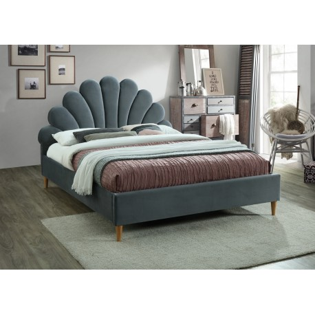thumb Двуспальная кровать Santana Velvet 160X200 Серый 1