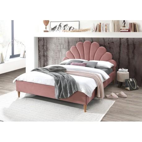 thumb Двуспальная кровать Santana Velvet 160X200 Античный Розовый 1