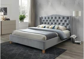 Полуторная кровать Aspen Velvet 140X200 Серый