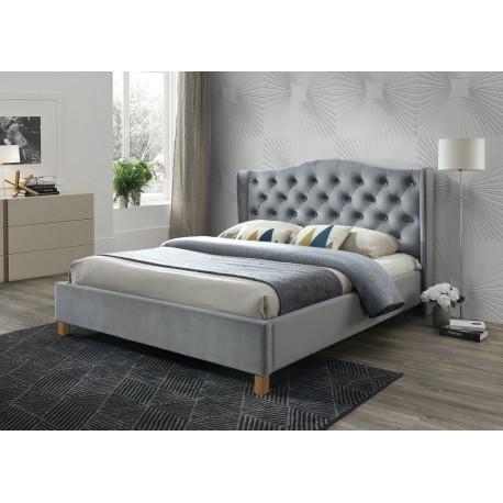thumb Полуторная кровать Aspen Velvet 140X200 Серый 1