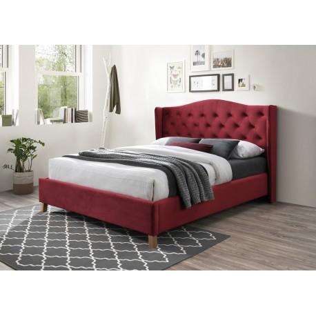 thumb Двуспальная кровать Aspen Velvet 160X200 Бордовый 1
