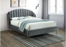 Двуспальная кровать Calabria Velvet 160X200 Серый